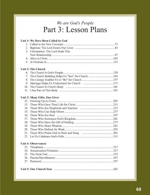 Book 5 Overview of Lessons