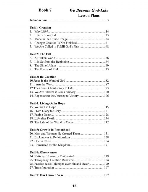 Book 7 Overview of Lessons
